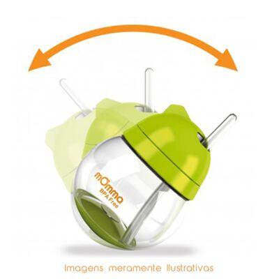 Imagem 2 do produto Copo de transição Antivazamento com alças Verde 250 ml (6m+) - mOmma - MM71001 Copo de Transição Antivazamento Verde 250ml (6m+)