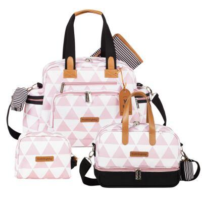 Imagem 1 do produto Bolsa Everyday  + Frasqueira térmica Vicky + Necessaire Manhattan Rosa - Masterbag