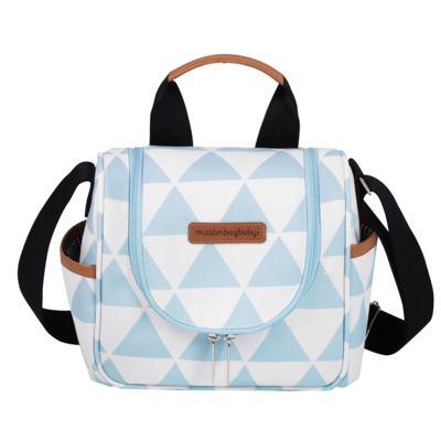 Imagem 7 do produto Mala maternidade Vintage + Bolsa Everyday + Frasqueira térmica Emy + Mochila Noah + Necessaire Manhattan Azul - Masterbag