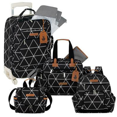 Imagem 1 do produto Mala Maternidade com Rodízio + Bolsa Everyday + Frasqueira térmica Emy + Mochila Noah Manhattan Preta - Masterbag