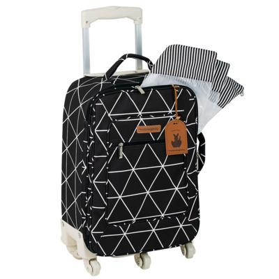 Imagem 2 do produto Mala Maternidade com Rodízio + Bolsa Everyday + Frasqueira térmica Emy + Mochila Noah Manhattan Preta - Masterbag