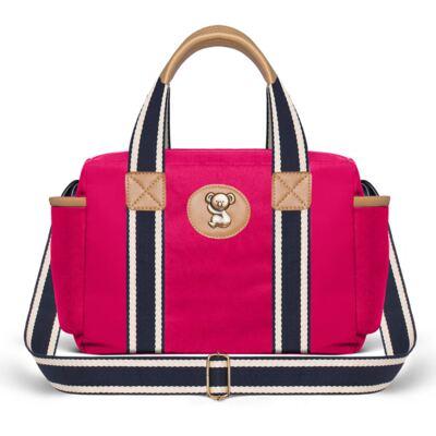 Imagem 2 do produto Bolsa Térmica para bebe + Mochila + Frasqueira Adventure em sarja Pink - Classic for Baby Bags