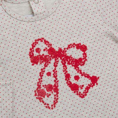 Imagem 3 do produto Bata com Legging para bebe em cotton Ribbon Roses - Baby Classic - 18210002.21 BLUSA C/ LEGGING  MALHA/ COTTON LACO-3