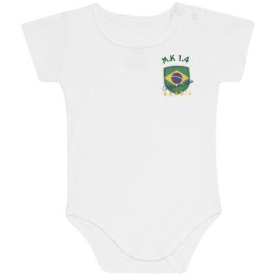 Imagem 2 do produto Body curto com Shorts em Pima Cotton Supreme Brasil - Mini & Kids - CBCB334 BODY M/C C/ BERMUDA SUEDINE BRASIL-GG