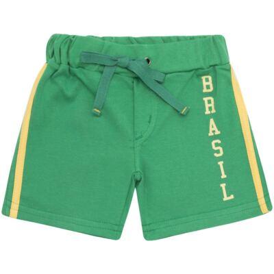 Imagem 3 do produto Body curto com Shorts em Pima Cotton Supreme Brasil - Mini & Kids - CBCB334 BODY M/C C/ BERMUDA SUEDINE BRASIL-G