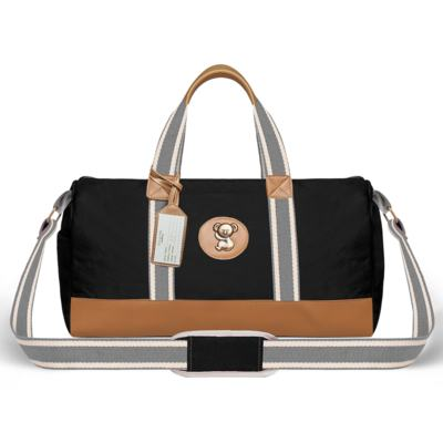 Imagem 2 do produto Bolsa Passeio para bebe + Bolsa Albany + Frasqueira Térmica Gold Coast Adventure em sarja Preta - Classic for Baby Bags