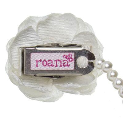 Imagem 2 do produto Prendedor de chupeta Flor & Pérolas Marfim - Roana