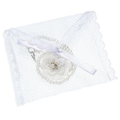 Imagem 4 do produto Prendedor de chupeta Flor & Pérolas Marfim - Roana