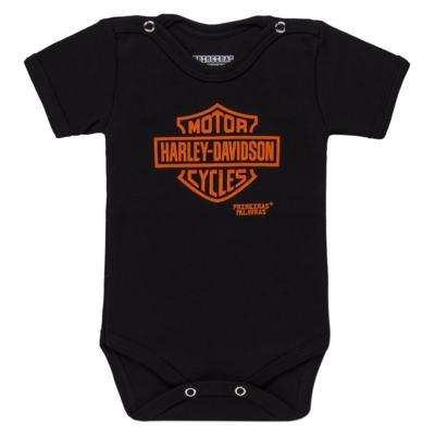 Imagem 1 do produto Body curto para bebe em suedine Motoqueiro - Primeiras Palavras - PP1608 BODY HARLEY MANGA CURTA-G