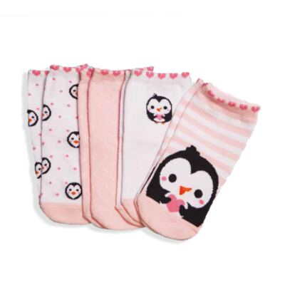 Imagem 1 do produto Kit com 4 meias Soquete recém-nascido Pinguim - Puket