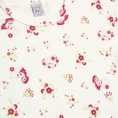 Imagem 2 do produto Body curto para bebe em suedine Flowery Bear - Vicky Lipe - BCE1360 BODY MC ESTAMPADO SUEDINE URSA FLORAL-2