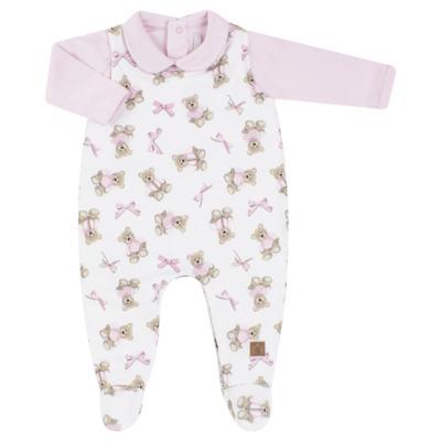 Imagem 1 do produto Jardineira com Body longo para bebe em viscomfort Bellamy - Petit - 16084168 JARDINEIRA BODY ML VISCOMF/ SU URSA -P
