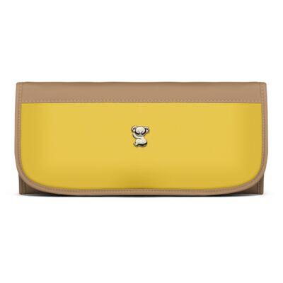 Imagem 4 do produto Bolsa maternidade para bebe Genebra + Frasqueira Térmica Zurique + Trocador Portátil Due Colore Amarelo - Classic for Baby Bags