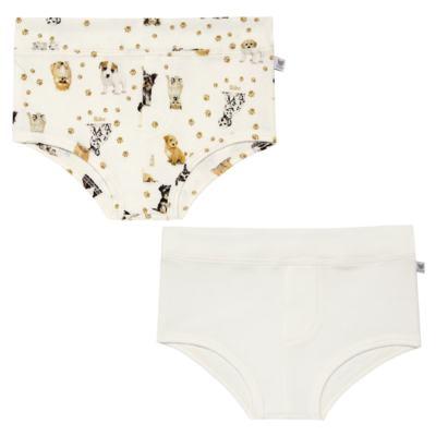 Imagem 1 do produto Pack: 02 Cuecas em algodão egípcio Little Dogs - Bibe - 37P07-G35 KIT CUE LI CUE ES CACHORRINHO-M