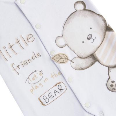 Imagem 2 do produto Macacão longo para bebe em algodão egípcio c/ jato de cerâmica Nature Little Friends - Mini & Classic - MAML650 MACACAO M/L SUEDINE NATURE-RN