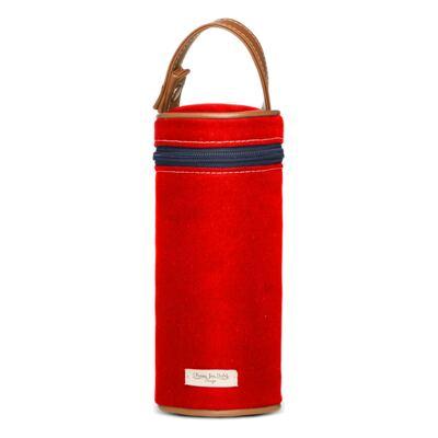 Imagem 7 do produto Bolsa Passeio para bebe + Bolsa Albany + Térmica Gold Coast + Necessaire + Trocador + Porta Mamadeira sarja Adventure Vermelha - Classic for Baby Bags