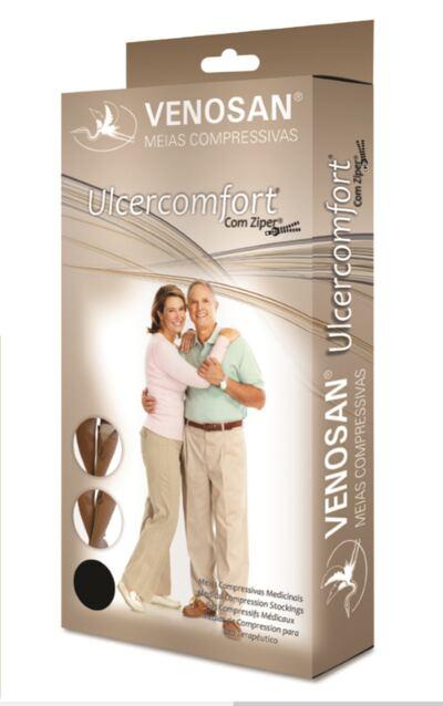 Imagem 1 do produto Meia Panturrilha AD 40 mmHg Ulcercomfort Venosan - Longa M