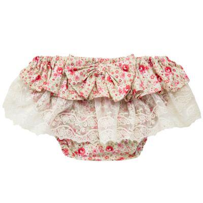 Imagem 2 do produto Conjunto de banho para bebê Liberty: Bumbum + Chapéu - Roana - BSR00900973 BANHO DE SOL C/ RENDA 3737 FLORAL/LARANJA-G