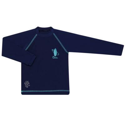 Imagem 1 do produto Camiseta Surfista em lycra FPS 50 Marinho - Cara de Criança - CSAL2576 PRANCHA BLUE CSAL CAMISETA SURF AGUA LONGO LYCRA-4