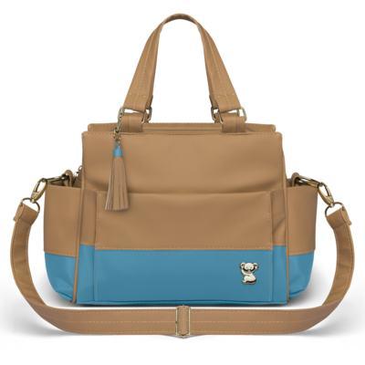 Imagem 3 do produto Bolsa maternidade para bebe Genebra + Frasqueira Térmica Zurique + Trocador Portátil Due Colore Turquesa - Classic for Baby Bags