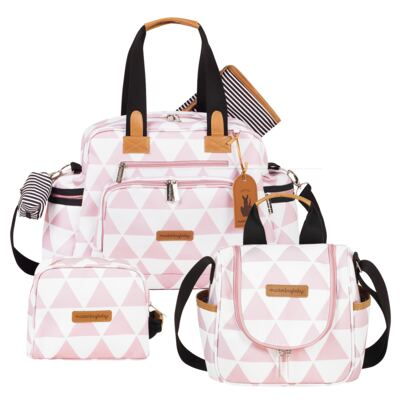 Imagem 1 do produto Bolsa Everyday  + Frasqueira térmica Emy + Necessaire Manhattan Rosa - Masterbag
