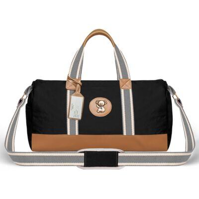 Imagem 2 do produto Bolsa Passeio para bebe + Bolsa Albany + Frasqueira Térmica Gold Coast+Trocador Portátil em sarja Adventure Preta - Classic for Baby Bags