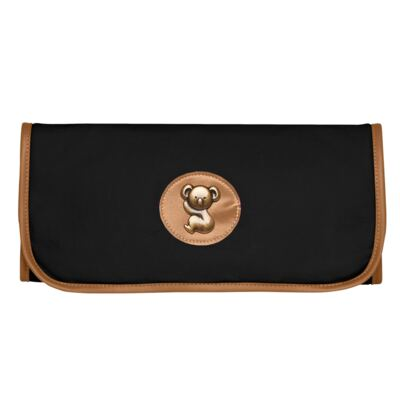 Imagem 5 do produto Bolsa Passeio para bebe + Bolsa Albany + Frasqueira Térmica Gold Coast+Trocador Portátil em sarja Adventure Preta - Classic for Baby Bags