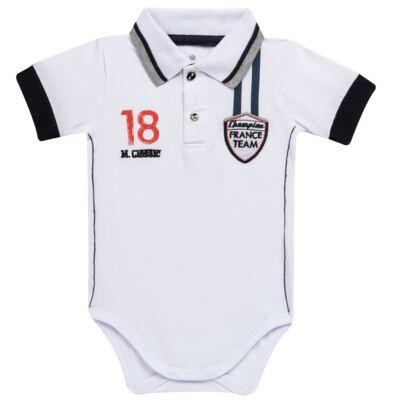 Imagem 1 do produto Body polo para bebe em cotton Racing - Mini & Classic - BDBP669 BODY POLO COTTON GRAND PRIX-M