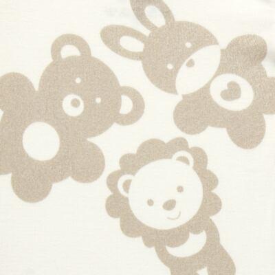 Imagem 3 do produto Body longo c/ Calça para bebe em suedine Little Friends - Dedeka - DDK17570/L14 CONJUNTO DE BODY RIBANA MARFIM-M