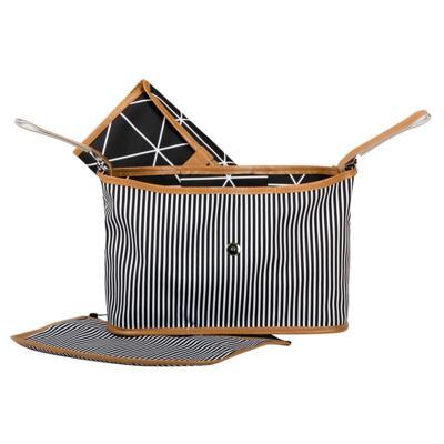 Imagem 4 do produto Mala maternidade Vintage + Bolsa Everyday + Frasqueira Organizadora + Necessaire Manhattan Preta  - Masterbag