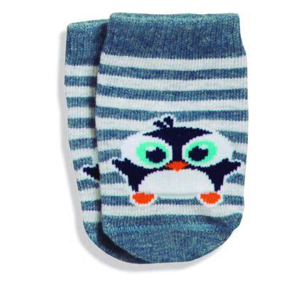 Imagem 1 do produto Meia Soquete recém-nascido Mescla Pinguim - Puket