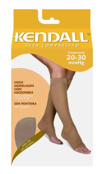 Imagem 1 do produto MEIA PANTURRILHA 20-30 ALTA KENDALL - MEL PONTEIRA ABERTA GG