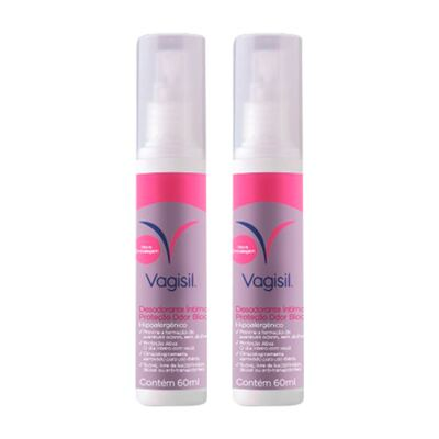 Imagem 1 do produto Kit Desodorante Íntimo Vagisil 60ml 2 Unidades