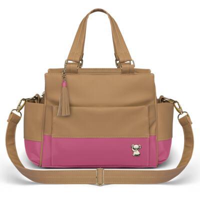 Imagem 3 do produto Bolsa maternidade para bebe Genebra + Frasqueira Térmica Zurique + Trocador Portátil Due Colore Pink - Classic for Baby Bags