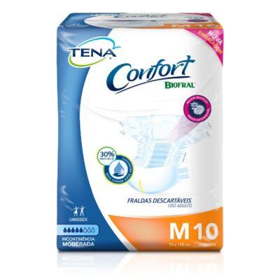 Imagem 2 do produto Kit Tena Fralda Geriátrica Confort Biofral Unissex M 30 Unidades + Toalha Umedecida 40 Unidades