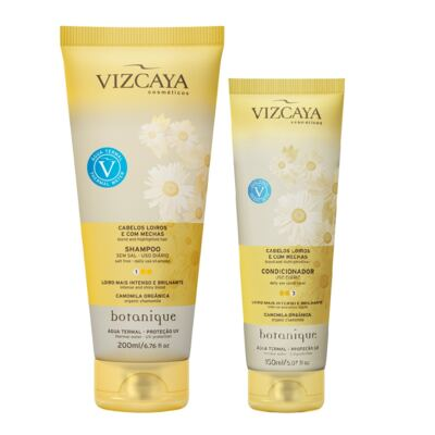Imagem 1 do produto Shampoo Vizcaya Botanique Loiros e com Mechas 200ml + Condicionador Vizcaya Botanique Loiros e com Mechas 150ml