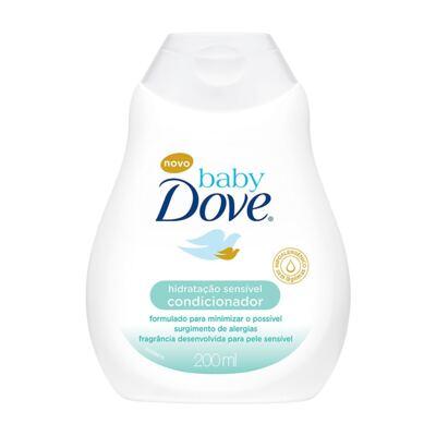 Imagem 3 do produto Kit Dove Baby Hidratação Sensível: Shampoo 200ml + Condicionador  200ml + Sabonete Líquido 200ml