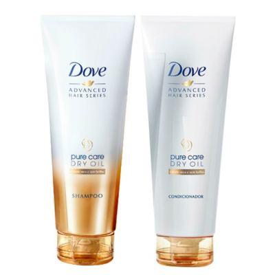 Imagem 1 do produto Kit Dove Pure Care Dry Oil Shampo + Condicionador 200ml