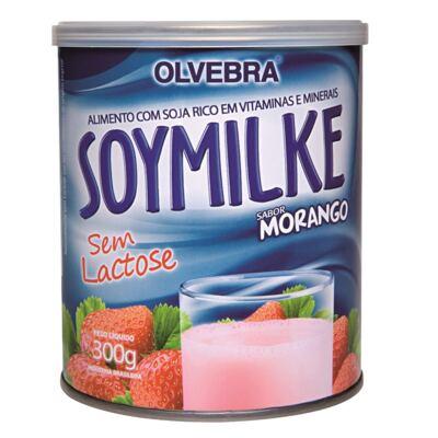 Imagem 2 do produto Kit Olvebra Soymilke Morango 300g + Barra Choco Soy Crispies 23g
