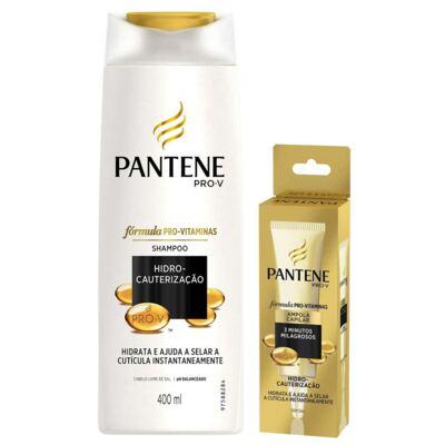 Imagem 1 do produto Kit Pantene Hidro Cauterização Shampoo 400ml + Ampola de Tratamento 15ml