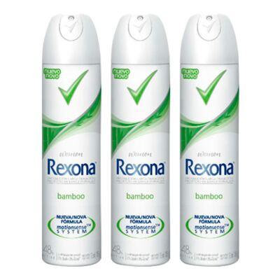 Imagem 1 do produto Kit Desodorante Aerosol Rexona Feminino Bamboo 105g 3 Unidades