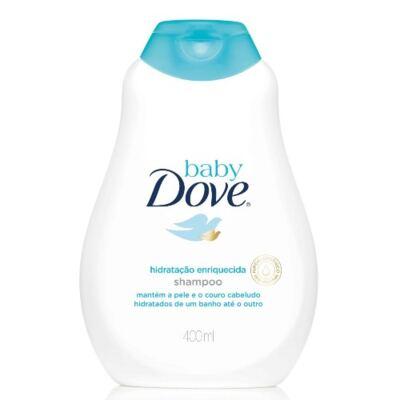 Imagem 2 do produto Kit Dove Baby Hidratação Enriquecida Shampoo 400ml + Refil 180ml