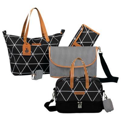 Imagem 1 do produto Bolsa 4 em 1 Sofia + Frasqueira térmica Vicky Manhattan Preto - Masterbag