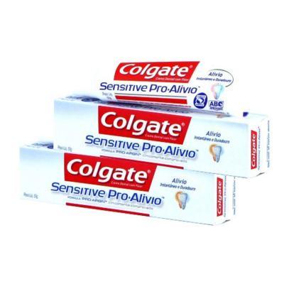 Imagem 1 do produto Creme Dental Colgate Sensitive Pró-Alívio 50g 2 Unidades