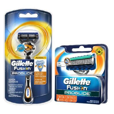 Imagem 2 do produto Aparelho de Barbear Gillette Fusion Proglide Flexball + Carga com 4 Unidades