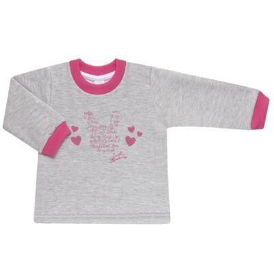 Imagem 2 do produto Blusão com Calça para bebe em moletom Corações Poá Mescla - Mini Mix - LTCM01 CONJUNTO MOLETOM CORAÇÃO POÁ PINK/MESCLA-2