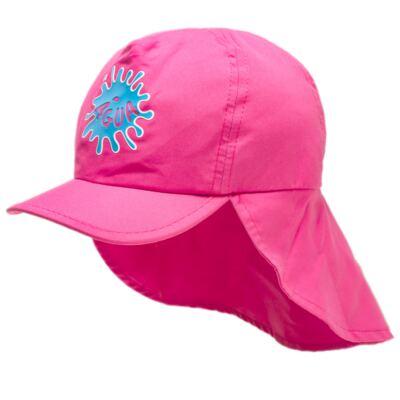 Imagem 2 do produto Boné c/ proteção em microfibra Pink - Cara de Criança - CH1316 BONE PINK CH CHAPEU PRAIA POLIESTER-P