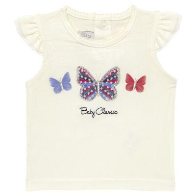 Imagem 2 do produto Blusinha com Calcinha Saia para bebe em viscolycra Butterflies - Baby Classic - 20521628 BLUSINHA M/C C/ SAIA VISCOLYCRA BUTTERFLY -GG
