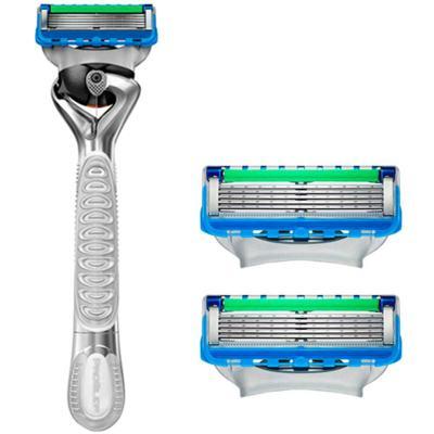 Imagem 2 do produto Kit Gillette Aparelho Proglide Flexball Silver 007 Spectre + 2 Cargas + Gel Barbeador Séries Hidratante 200ml