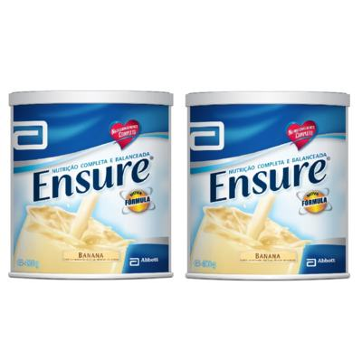 Imagem 3 do produto Complemento Alimentar Ensure Banana 400g 2 Unidades